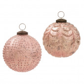 2-Pack Pink Mercury Ornament Set
