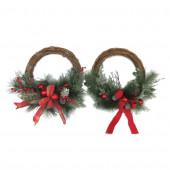 20-in Indoor/Outdoor Twig Artificial Christmas Wreath