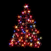 2.1-ft Pre-Lit  Artificial Christmas Tree with Multicolor Incandescent Lights