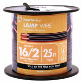 25-ft 16-AWG 2-Conductor Black Lamp Cord