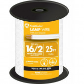 25-ft 16-AWG 2-Conductor White Lamp Cord