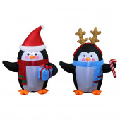 3-ft x 2-ft Lighted Penguin Christmas Inflatable
