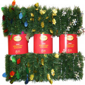 3-in x 12-ft Pine Artificial Christmas Garland