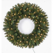 30-in Pre-Lit Indoor/Outdoor Pine Artificial Christmas Wreath with White Clear Incandescent Lights