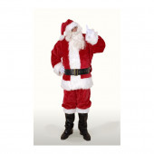 3XL Maroon Polyester Santa Claus Suit