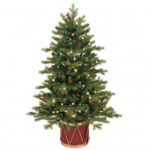 4-ft Pre-Lit Colorado Spruce Slim Artificial Christmas Tree with White Clear Incandescent Lights