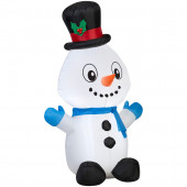 4-ft x 1.64-ft Lighted Snowman Christmas Inflatable
