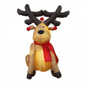 4-ft x 2-ft Lighted Reindeer Christmas Inflatable