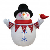 4-ft x 4-ft Lighted Snowman Christmas Inflatable