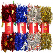 4-in x 9-ft Tinsel Artificial Christmas Garland