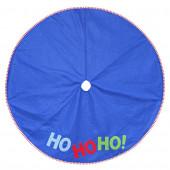 48-in Blue Polyester Santa Christmas Tree Skirt