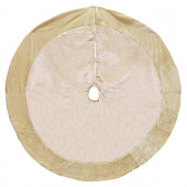 48-in Gold Polyester Snowflake Christmas Tree Skirt