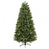5-ft Pre-Lit Colorado Spruce Artificial Christmas Tree with Color Changing Warm White LED Lights