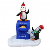 5-ft x 4-ft Animatronic Lighted Penguin Christmas Inflatable