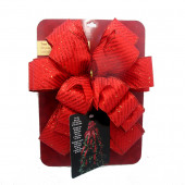53-in Red Glitter Polyester Ribbon Christmas Tree Topper