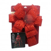 53-in Red Mesh Polyester Ribbon Christmas Tree Topper