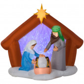 5.9-ft x 4.03-ft Lighted Nativity Christmas Inflatable