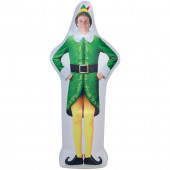 6-ft x 1.7-ft Lighted Elf Christmas Inflatable