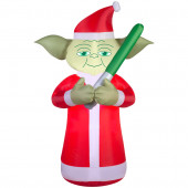 6-ft x 2.29-ft Lighted Star Wars Yoda Christmas Inflatable