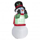 6-ft x 2.62-ft Animatronic Lighted Snowman Christmas Inflatable