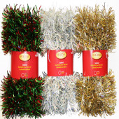 6-in x 12-ft Tinsel Artificial Christmas Garland