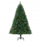 6.5-ft Pre-Lit Seneca Pine Artificial Christmas Tree with Color Changing LED Lights