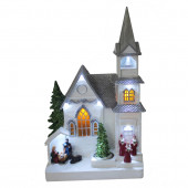 Animatronic Lighted Musical Church with Christmas Tree