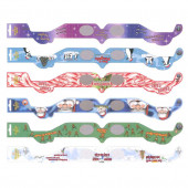 Assorted One Size Fits All Paper 3D Christmas Glasses