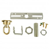 Brass/Chrome Metal Swag Light Kit