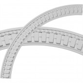 Dentil and Bead 3.25-in x 47-in Quarter Polyurethane Ceiling Ring