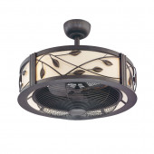 Eastview 23-in Dark Bronze Downrod Mount Indoor Residential Ceiling Fan with Light Kit and Remote (3-Blade)