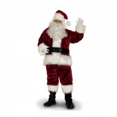 Large Burgundy Polyester Santa Claus Suit