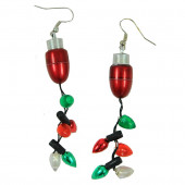 Lighted Christmas Earrings