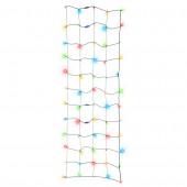 LightShow 2-ft x 6-ft Indoor/Outdoor Shimmering Multicolor LED Mini Plug-in Christmas Net Light