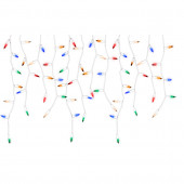 LightShow 200-Count Shimmering Multicolor Mini LED Plug-In Christmas Icicle Lights