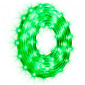 LightShow 96-Count 10-ft Constant Green LED Plug-in Christmas Rope Lights with Clear Tubing