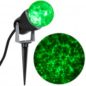 LightShow Swirling Green LED Kaleidoscope Christmas Spotlight Projector