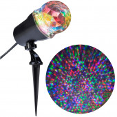 LightShow Swirling Multicolor LED Kaleidoscope Christmas Spotlight Projector