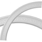 Marcella 4-in x 51-in Quarter Polyurethane Ceiling Ring