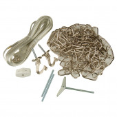 Nickel Metal Swag Light Kit