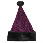 One Size Fits All Metallic Velvet Traditional Santa Hat