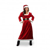 S/M Maroon Polyester Mrs. Claus Suit