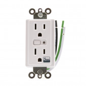 Z-Wave 15-Amp 120-Volt White Wireless Duplex Electrical Outlet